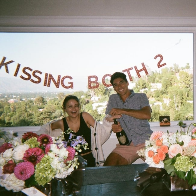 Taylor Zakhar Perez in August 2020 thanking his fans for all the love they showed for The Kissing Booth 2