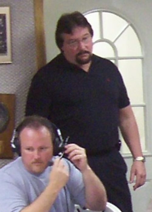 Ted DiBiase at a radio interview in July 2006 in Newton, Iowa