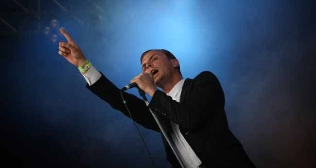Theo Hutchcraft as seen while performing with Hurts in June 2010