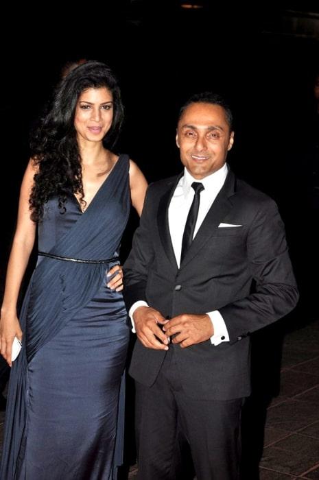 Tina Desai and Rahul Bose at Karan Johar's 40th birthday bash at Taj Lands End in May 2012