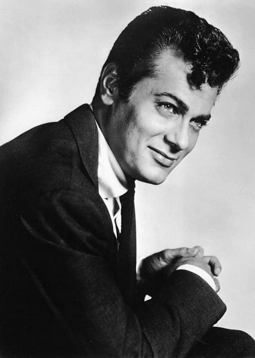 Tony Curtis as seen in a publicity photo in 1958