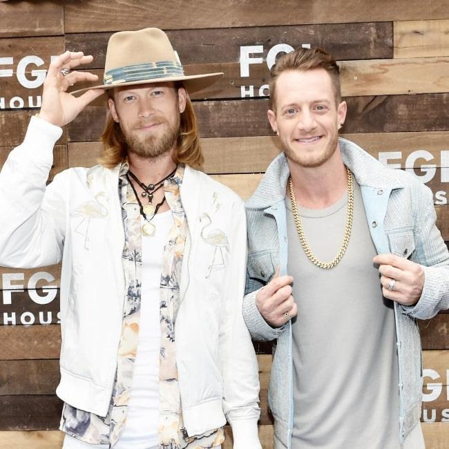 Tyler Hubbard (Right) and Brian Kelley in June 2017