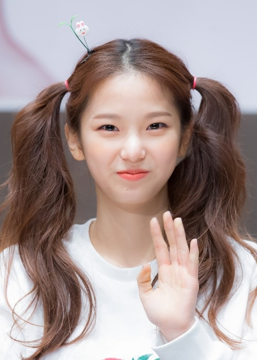Yujin pictured at a CLC fan-event in March 2016