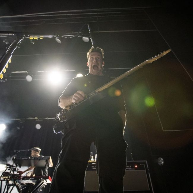 Zach Filkins as seen onstage during his band's Australian tour in 2019
