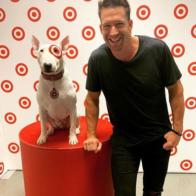 Zach Filkins as seen smiling in a Target store in September 2019