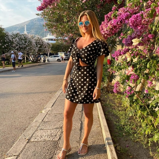 Zara Holland posing for a picture in Croatia in August 2020