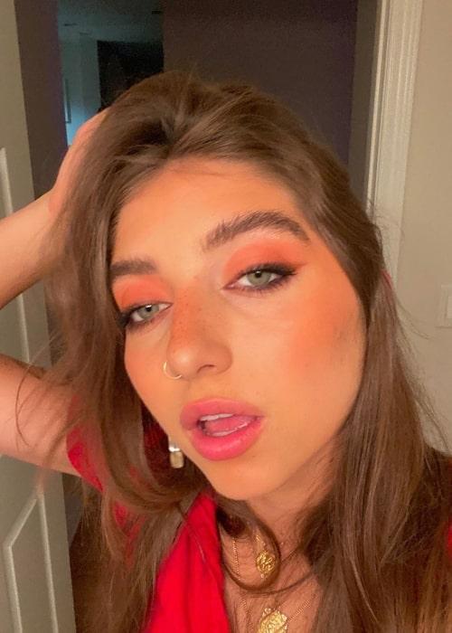 Zoi Lerma as seen in a selfie that was taken in August 2020