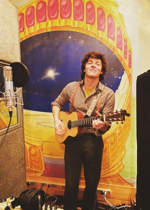 Adrian Blake Enscoe as seen in a picture that was taken at the Electric Lady Studios in March 2020