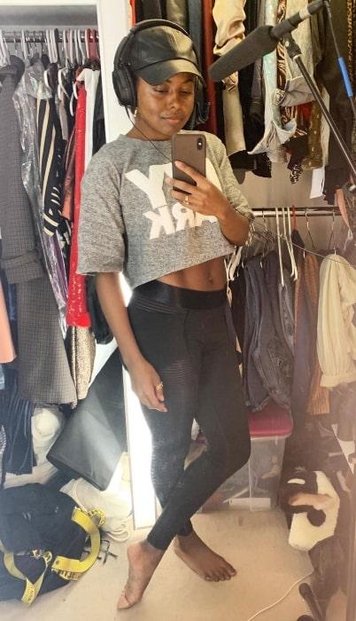 Adrienne Warren as seen while taking a mirror selfie in New York City, New York in March 2020
