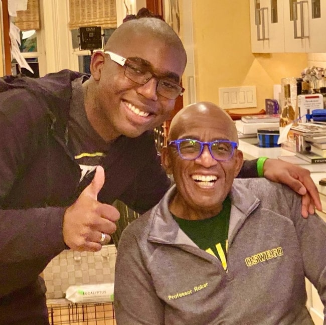 Al Roker and his son fresh from haircuts in November 2020