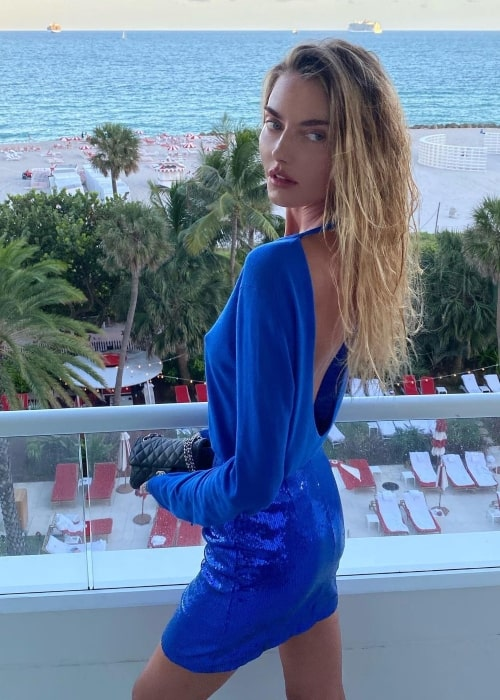 Alina Baikova as seen in a picture that was taken at the Faena Miami Beach in November 2020