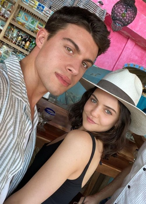 Andrew Matarazzo as seen in a selfie that was taken with Danielle Campbell in Cabo San Lucas, Mexico in February 2020