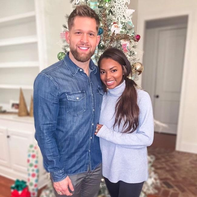 Asya Branch with her boyfriend in December 2019