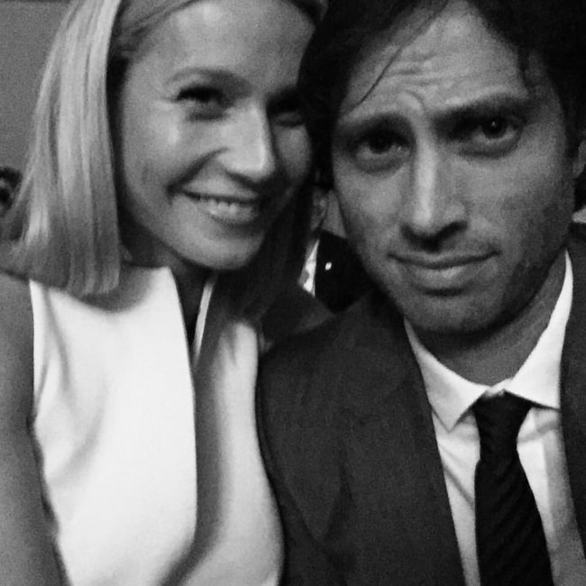 Brad Falchuk in September 2015 having a happy time with his then date