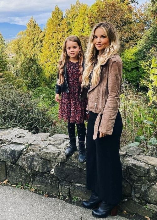 Briana Buckmaster as seen in a picture that was taken with her daughter in Vancouver, British Columbia in October 2020