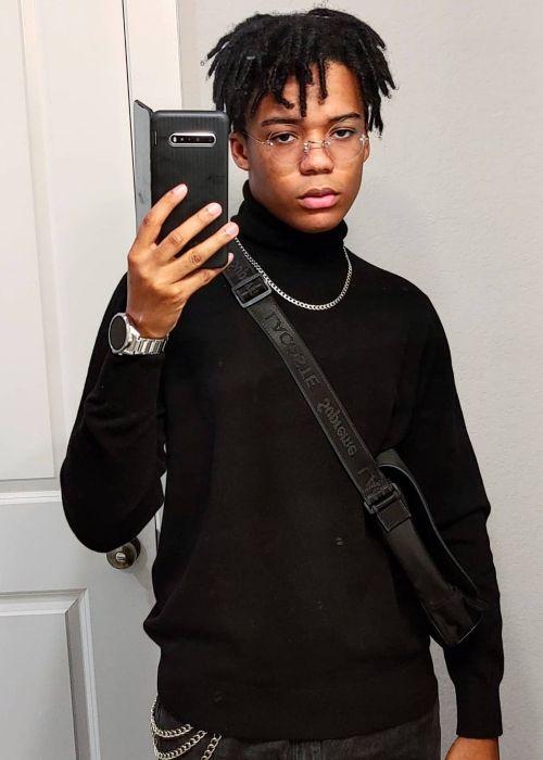 D'Angelo Wallace as seen in a selfie that was taken in July 2020