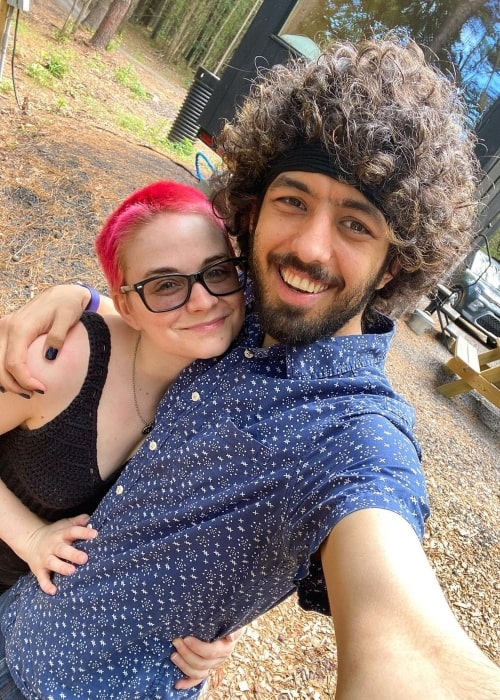 Danny Haddad as seen in a selfie with her husband Danny Haddad in July 2020