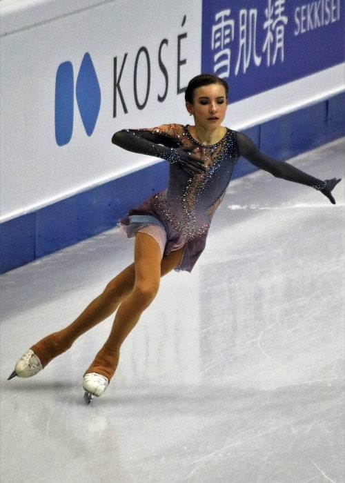 Daria Usacheva as seen in a picture during a performance of hers in December 2019