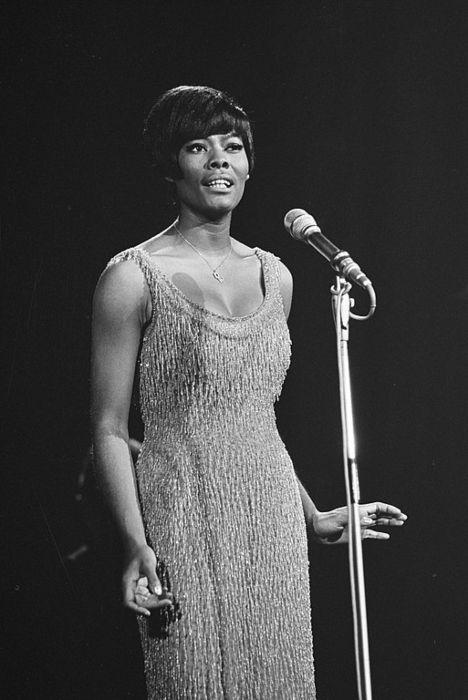 Dionne Warwick as seen onstage in 1966