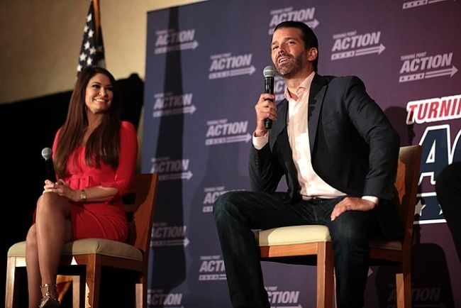 Donald Trump Jr. and Kimberly Guilfoyle as seen in 2020