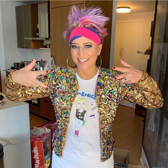 Dorinda Medley in October 2020 supporting the LGBTQ+ community and urging everyone to live proud and free