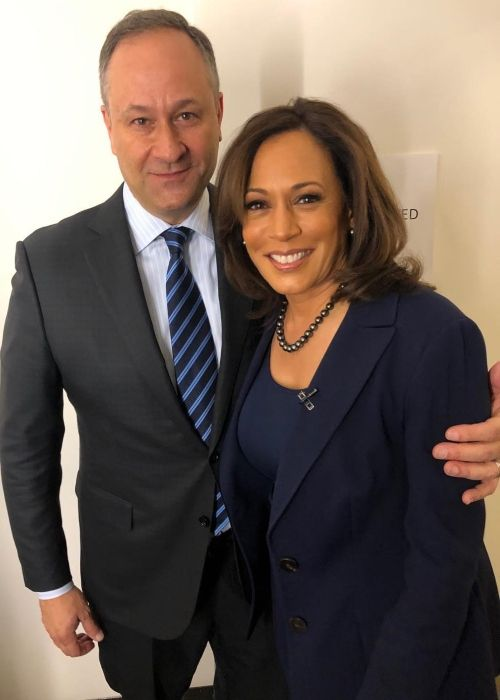 Doug as seen with his wife Kamala Harris in 2019