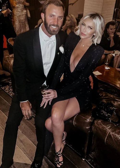 Dustin Johnson and Paulina Gretzky, as seen in March 2020