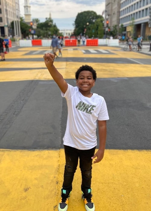 Dylan Gilmer as seen while posing for the camera at the Black Lives Matter Plaza in June 2020