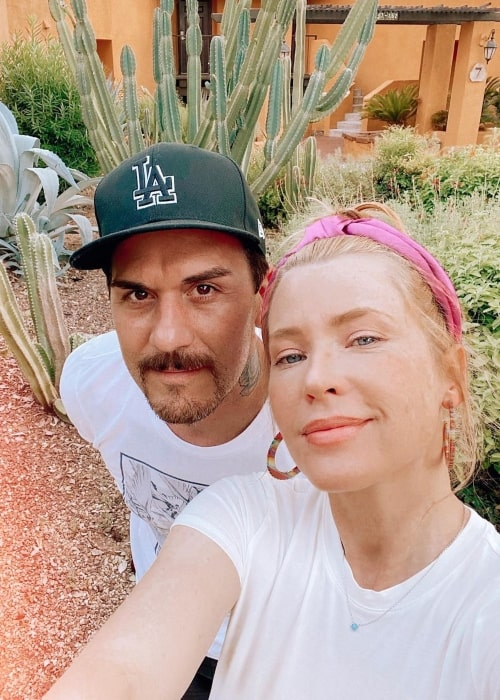 Emma Booth as seen in a selfie that was taken with her husband Dominick Joseph Luna in August 2020