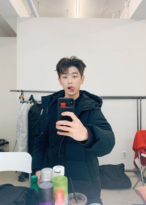 Eric Nam in an Instagram selfie from October 2020