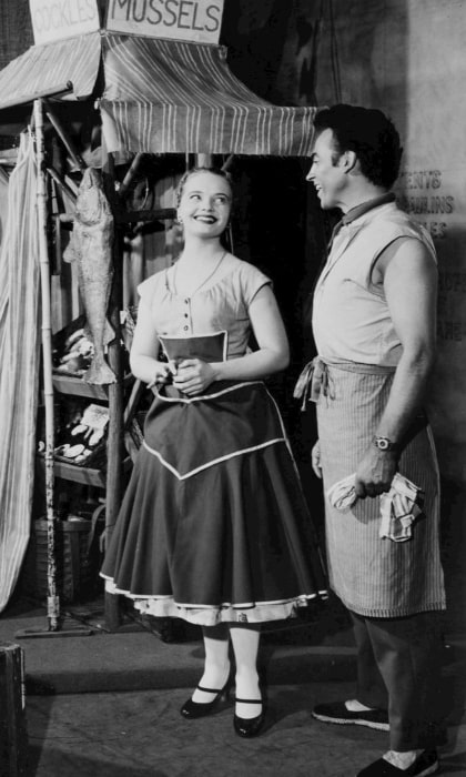 Florence Henderson and William Tabbert as seen in the Broadway production of 'Fanny'
