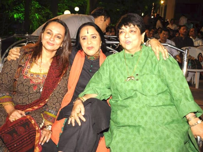 From Left to Right - Soni Razdan, Ila Arun, and Kalpana Lajmi posing for the camera at Bhupen Hazarika tribute in December 2011