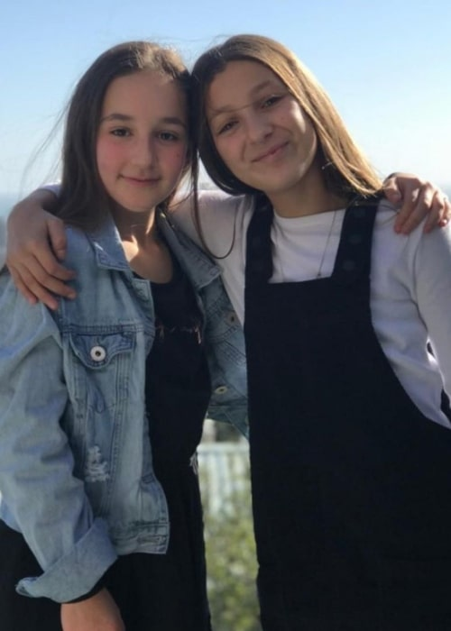 Gabs Lewitton as seen in a picture that was taken in September 2020, with her friend Bella Widan