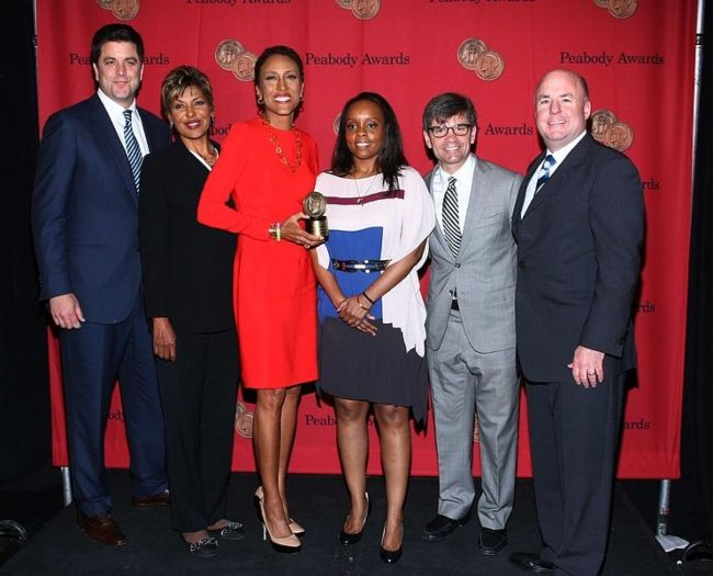 George Stephanopoulos (2nd from right) as seen at the Peabody Awards Luncheon in 2013