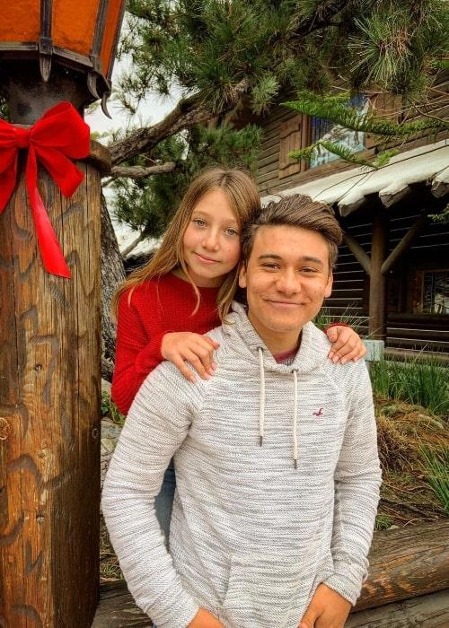 Grant Durazzo and his sister Nicolette in December 2019