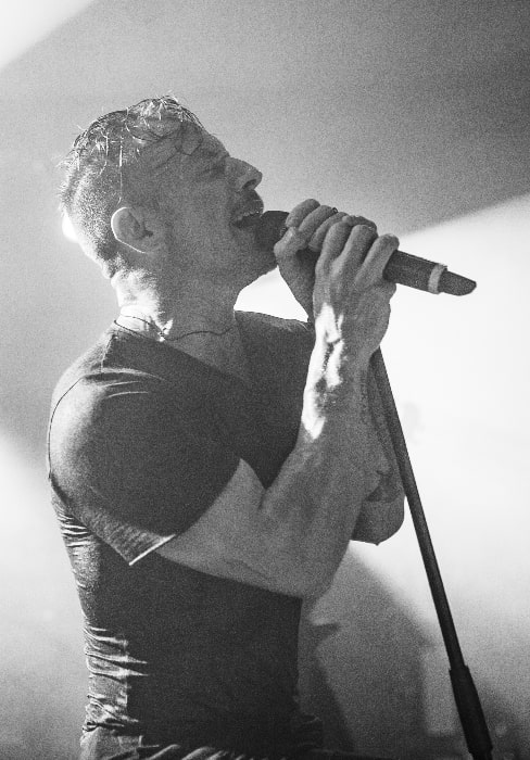 Greg Puciato as seen while performing with the Dillinger Escape Plan in Leipzig, Germany in 2017 during their final tour in Europe
