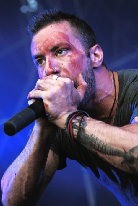 Greg Puciato during the performance on the Picture On Festival in Bildein, Austria in 2011