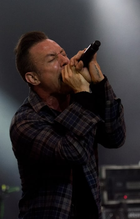 Greg Puciato pictured while performing at Wacken Open Air 2017