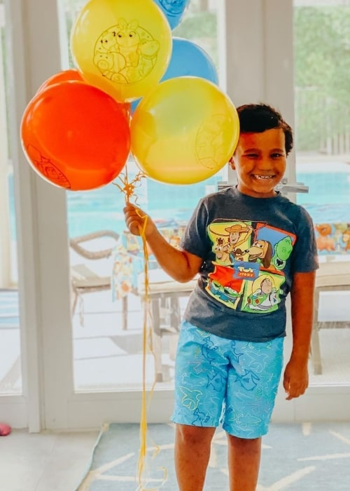 Hampton Rich as seen in a picture that was taken in May 2020, on the day of his 7th birthday