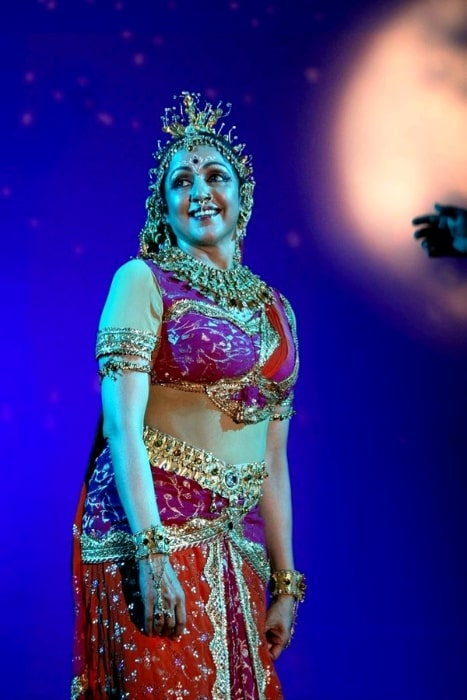 Hema Malini as seen while performing in a concert in June 2011