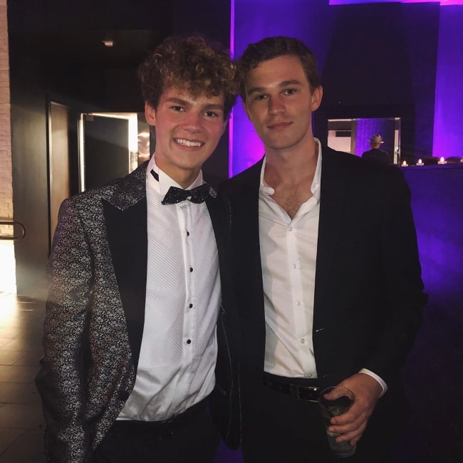 Hunter Summerall (Right) as seen while smiling in a picture alongside Hayden Summerall in September 2019