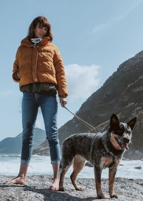 Jenna Upton and her dog Rey in a picture that was taken in September 2020