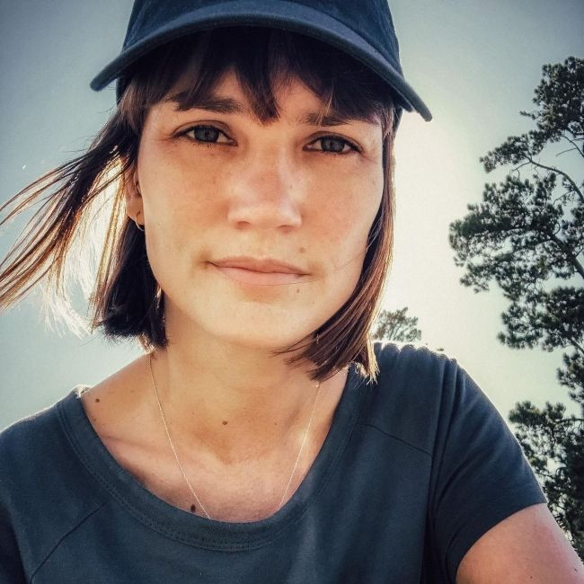 Jenna Upton as seen in a selfie that was taken at the Durbanville parkrun in February 2020