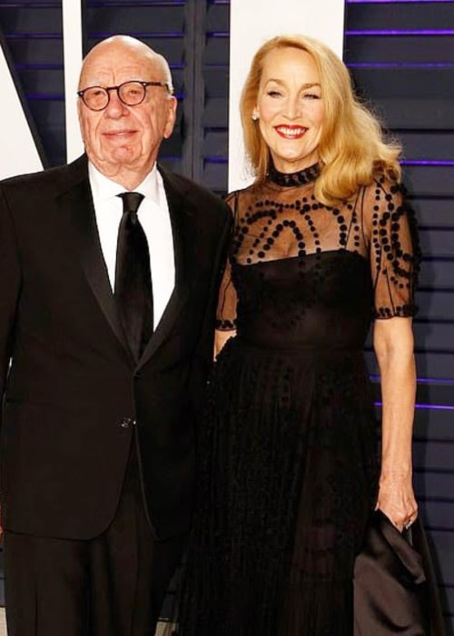 Jerry Hall and Rupert Murdoch, as seen in February 2019