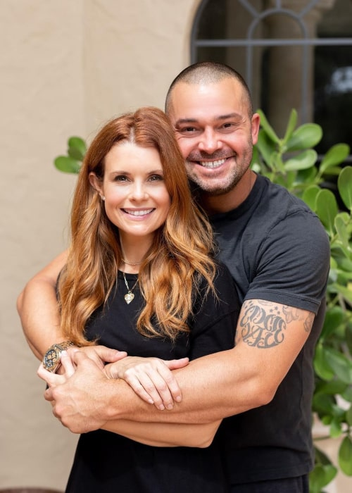 JoAnna Garcia and Nick Swisher, as seen in October 2020