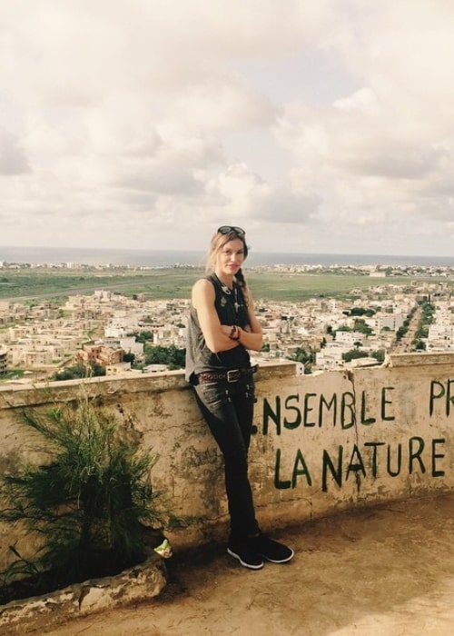 Jolene Blalock as seen in a picture that was taken at Phare des Mamelles in Senegal in August 2015