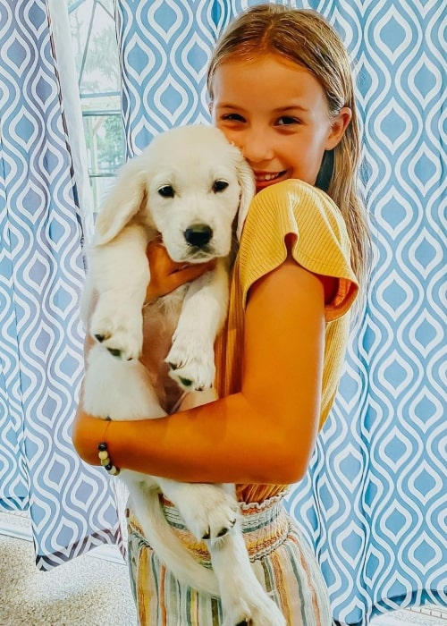 Kapri Rich as seen in a picture with a puppy that was taken in September 2020