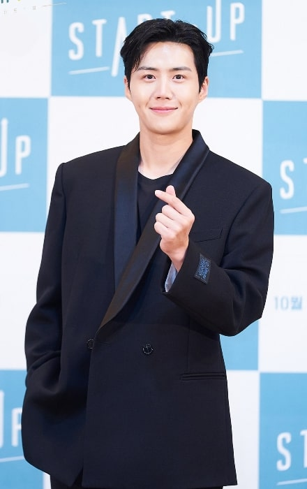Kim Seon-ho as seen while posing for the camera at the 2020 start up press conference