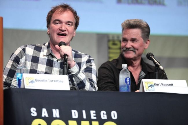 Kurt seen with Quentin Tarantino at the 2015 San Diego Comic-Con for The Hateful Eight