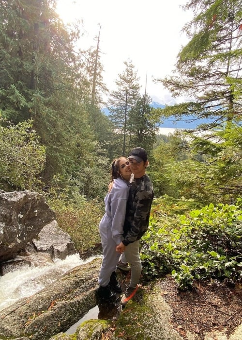 Kyle Godfrey as seen in a picture with his beau Jana Soss in British Columbia in October 2020